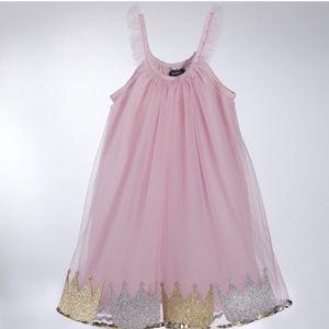 Mud Pie Pink Crown Dress